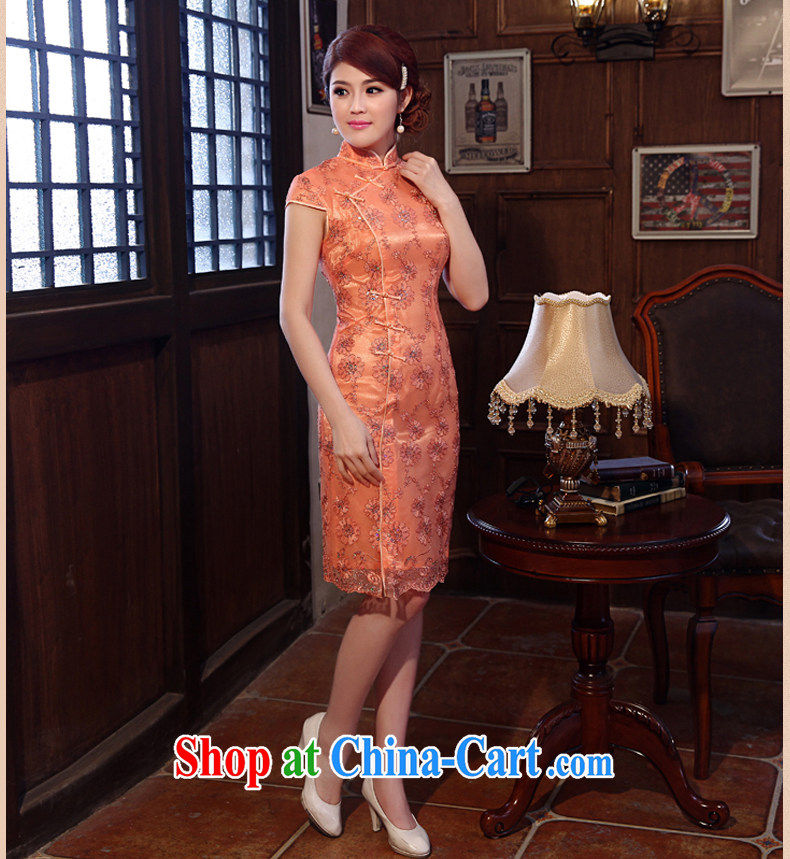Dresses 2014 summer new lace beauty sense of improvement, Retro ethnic wind dresses dresses orange XXL pictures, price, brand platters! Elections are good character, the national distribution, so why buy now enjoy more preferential! Health