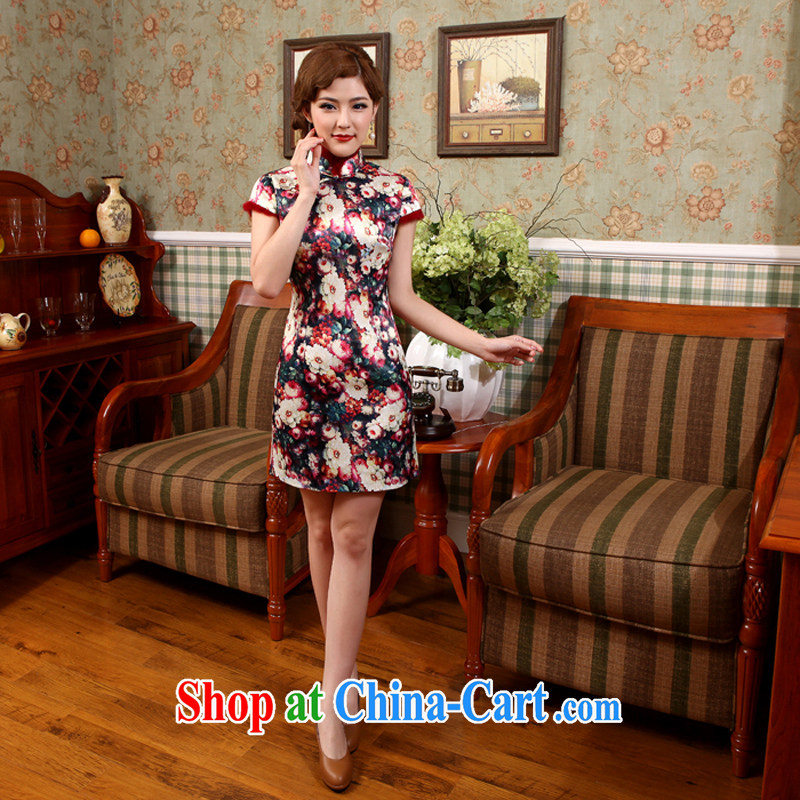 Dresses 2013 winter clothing new Chinese style improved folder cotton robes spent cultivating dresses X suit 597 2 XL