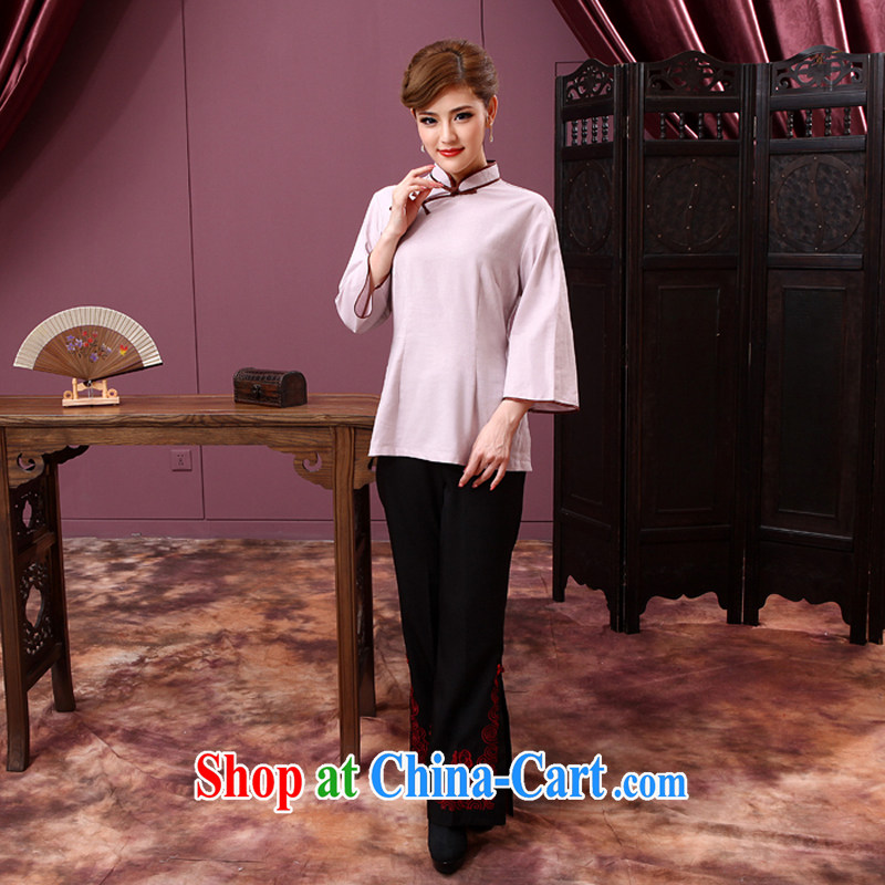 2014 cheongsam Chinese Chinese qipao T-shirt girls 7 sub-cuff fashion style female daily improved cheongsam, Color 2 XL