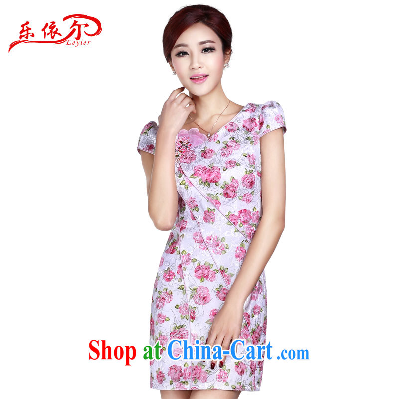 And, according to Mr Ronald ARCULLI's new cheongsam dress elegant classical lady dresses retro stamp short-sleeved qipao LYE 1371 pink XXL