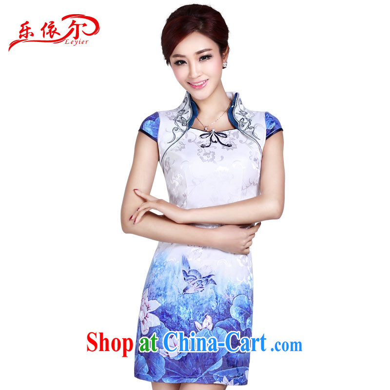And, according to Ms. summer retro improved cheongsam dress the charge-back embroidered classic short, cultivating daily cheongsam dress LYE 8802 white XXL