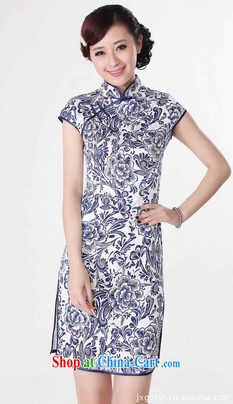 Capital city sprawl 2014 spring and summer new women's clothes cotton stylish beauty dresses retro, for blue and white porcelain cheongsam dress D D 0204 0204 165 /L pictures, price, brand platters! Elections are good character, the national distribution, so why buy now enjoy more preferential! Health