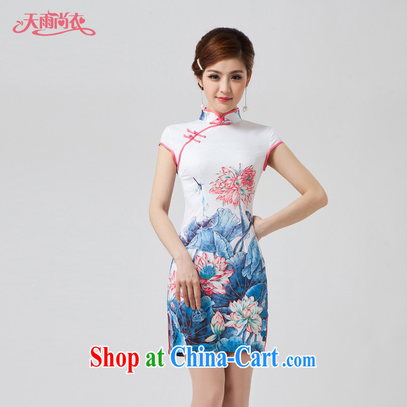 Rain is still clothing bridal portrait bows dress clothes and stylish summer new, improved cultivation video thin China wind dinner everyday dresses QP 7009 photo color XXL
