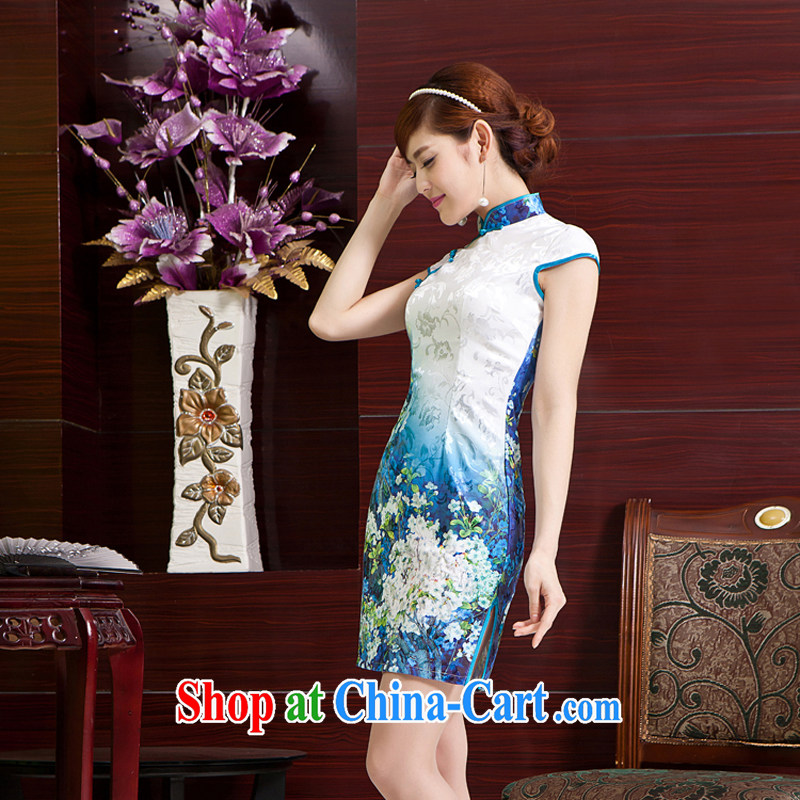 Rain is still Yi Ying House bridal photography photography cheongsam Chinese wedding MOM short stylish dresses skirts daily outfit outfit beauty QP 7052 photo color XXL, rain is still Yi, shopping on the Internet
