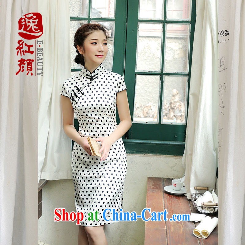 once and for all, fatally jealous vanilla silk upscale retro new dresses 2014 summer skirt outfit improved daily stylish white 2XL