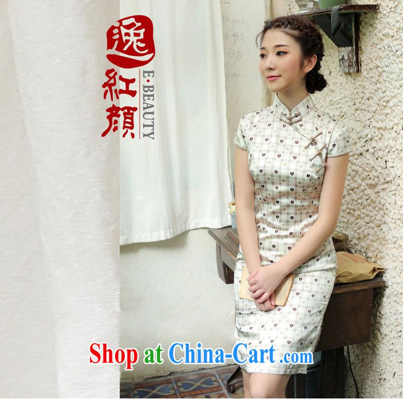 once and for all the proverbial hero, silk upscale retro new dresses 2014 summer skirt outfit improved daily stylish brown XL