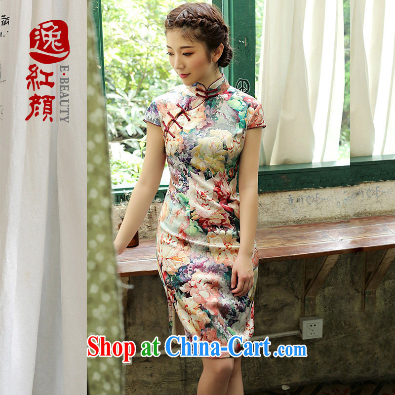 once and for all and proverbial hero Fong silk upscale retro new dresses 2014 summer skirt outfit improved daily fashion fancy XL