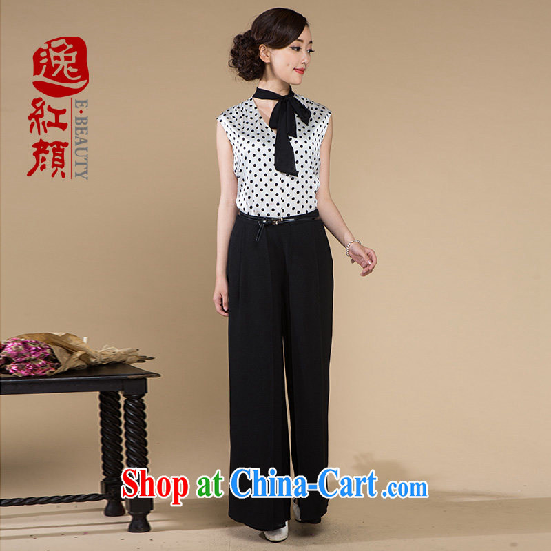 Once the proverbial hero -- ice rock new summer fashion snow spinning retro wide leg trousers elegance breathable pants black 2 XL - pre-sale 7 days
