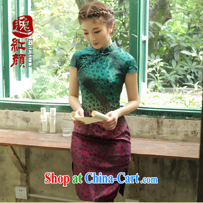 once and for all and fatally jealous Chung Nga silk upscale retro new dresses 2014 summer skirt outfit improved daily fashion fancy L - pre-sale 30 days