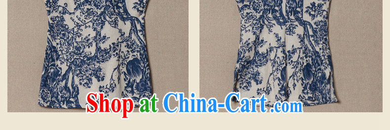 Yin Yue NARS summer 2014 new dresses T-shirt blue and white porcelain Chinese female short-sleeved T-shirt Art Nouveau Chinese green floral L pictures, price, brand platters! Elections are good character, the national distribution, so why buy now enjoy more preferential! Health
