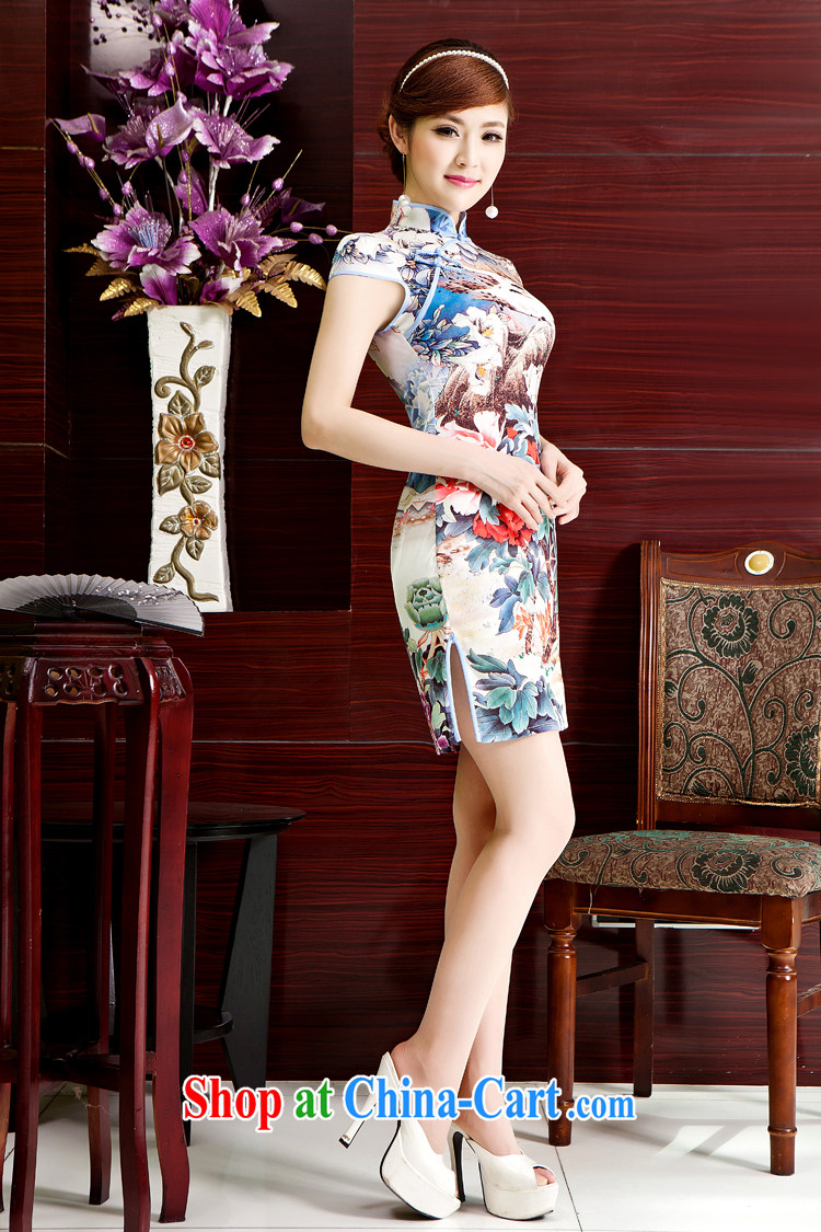 There is a bride's 2014 spring and summer new, Retro beauty cheongsam dress summer fashion, Ms. improved cheongsam short-sleeved dresses QP 402 short XL Suzhou shipping pictures, price, brand platters! Elections are good character, the national distribution, so why buy now enjoy more preferential! Health