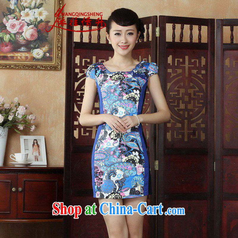 In accordance with the situation in summer 2015 China wind round-collar stamp duty Beauty Fashion cheongsam dress LGD_D 0246 _picture color L