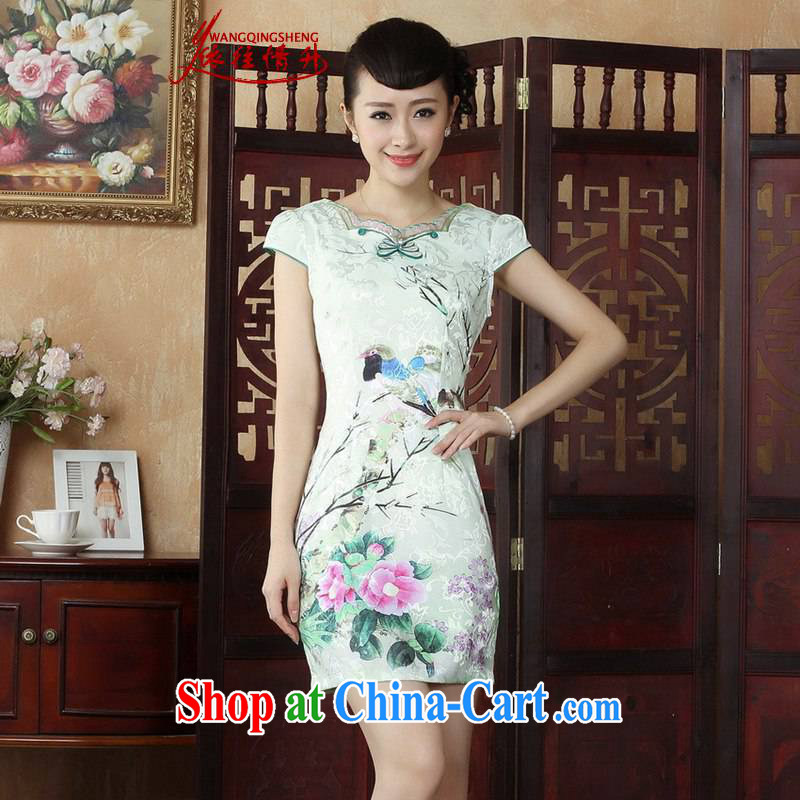 According to the situation in 2015 National wind antique stamp duty and stylish beauty cheongsam dress LGD/D 0244 #picture color 2 XL