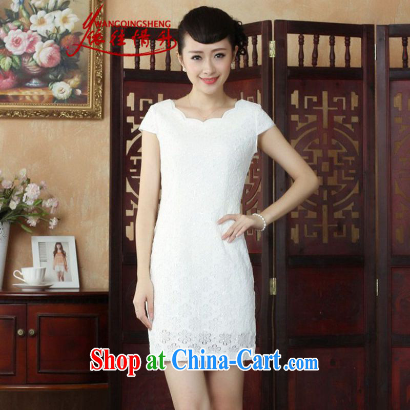 In accordance with the situation in summer 2015 new lace collar beauty lace cheongsam dress LGD_D 0241 _picture color 2 XL