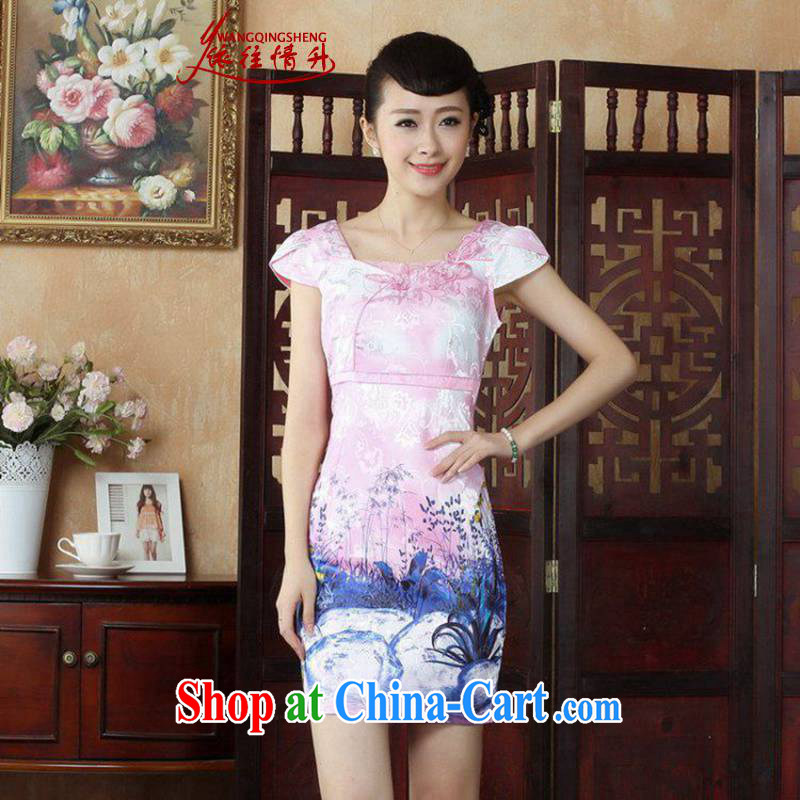 According to the situation in summer 2015 trendy new products round ends embroidered beauty dresses dresses LGD_D 0237 _picture color 2 XL