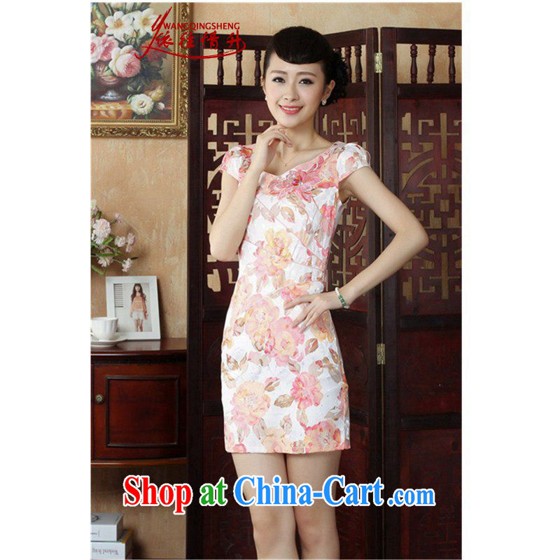 According to the conditions in summer and stylish new products round-cut stamp duty cultivating cheongsam dress LGD/D 0236 #picture color 2 XL