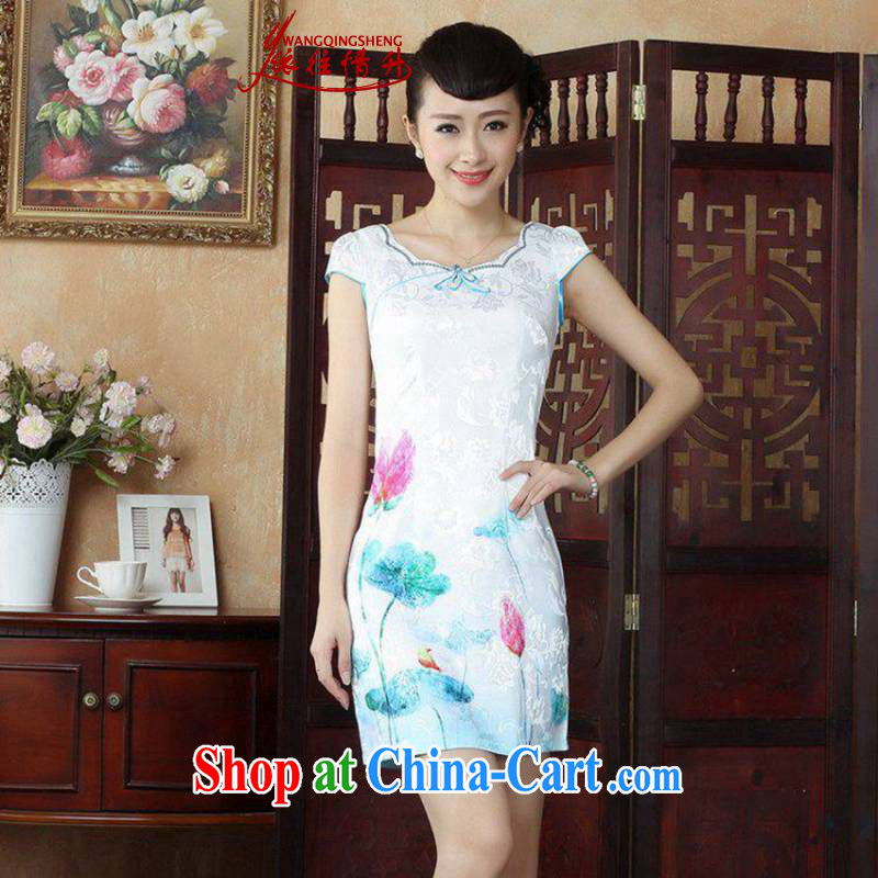In accordance with the conditions in summer and stylish new round ends antique stamp duty cultivating cheongsam dress LGD_D 0235 _picture color S