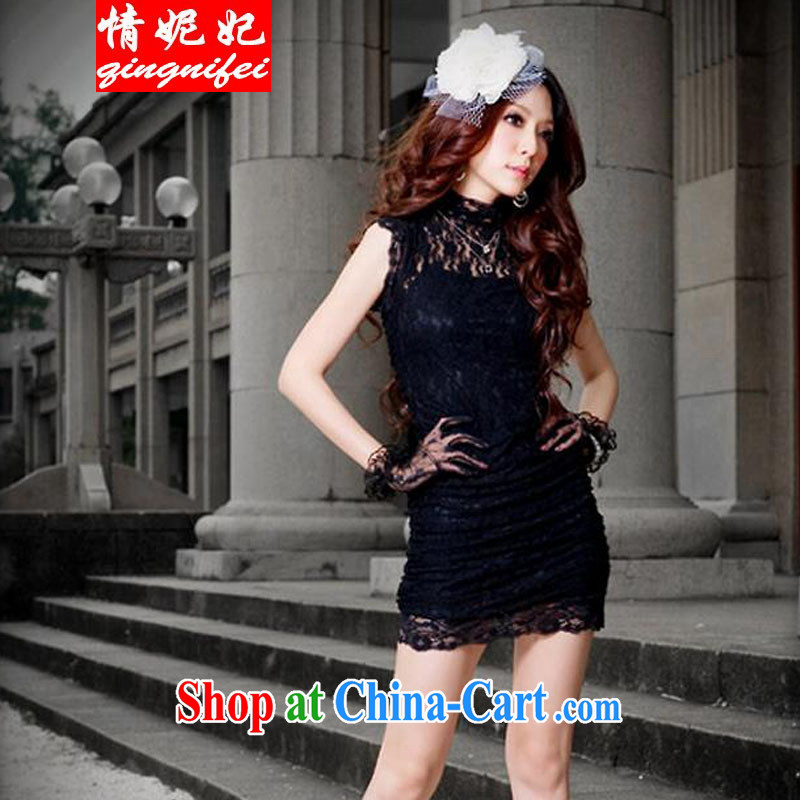 Love Princess Anne 2015 New Beauty video thin night evening dress sense personalized beauty package and tight short lace cheongsam dress small dresses black are code