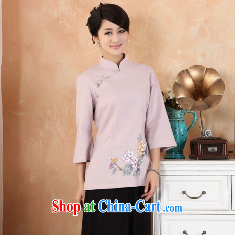 He Jing Ge female Tang Women's clothes summer clothes, stamp duty for Chinese Han-female Enhancement - 3 purple 2 XL