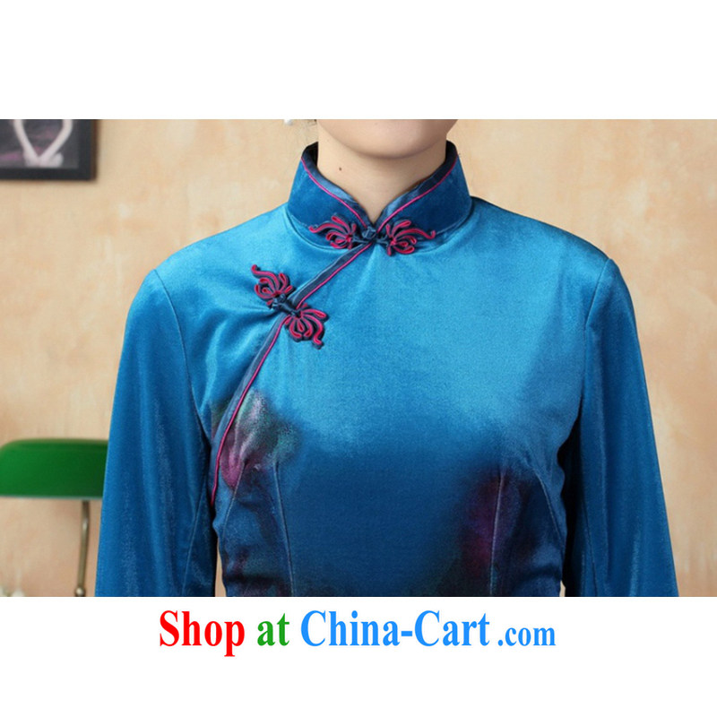 In accordance with the conditions and l stretch the wool painting stylish classic in short sleeves cheongsam Chinese LGD/TD 0004 #picture color 2 XL, in accordance with the situation, and, shopping on the Internet