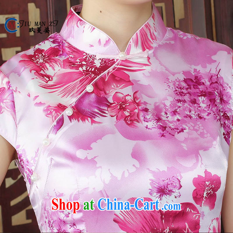 Ko Yo Mephidross colorful summer improved stamp dresses Ethnic Wind damask, short-sleeved BEAUTY package and dresses D 0003 photo color 175/2 XL, capital city sprawl, shopping on the Internet