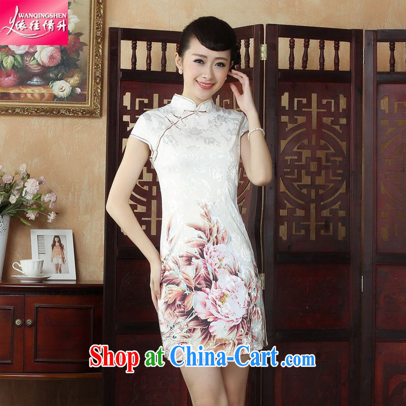In accordance with the conditions in summer and stylish new female outfit is tight stamp duty cultivating Chinese qipao LGD/D 0250 #picture color 2 XL