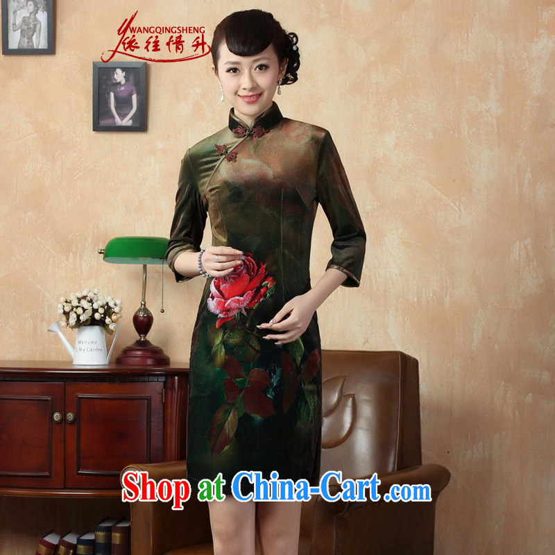 In accordance with the situation in autumn and stylish new products stretch gold velour poster classic cuff in Chinese qipao LGD_TD 0002_ picture color 2 XL