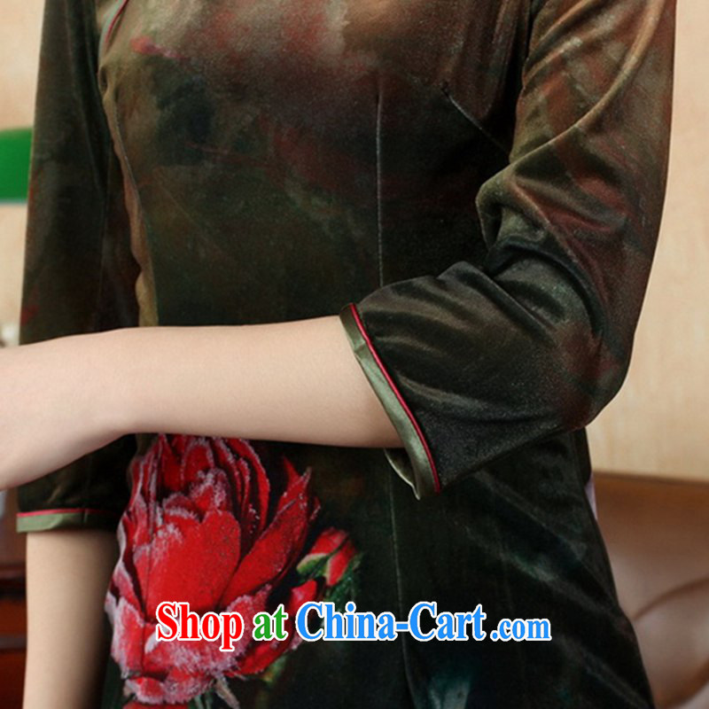 In accordance with the situation in autumn and stylish new products stretch the wool poster classic cuff in Chinese qipao LGD/TD 0002# picture color 2 XL, in accordance with the situation, and, on-line shopping
