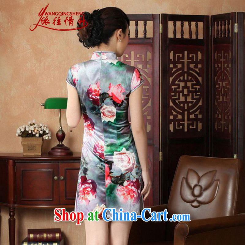In accordance with the situation in summer new stylish classic stretch the wool poster short-sleeved Chinese qipao LGD/TD 0012 #picture color 2 XL, in accordance with the situation, and, on-line shopping