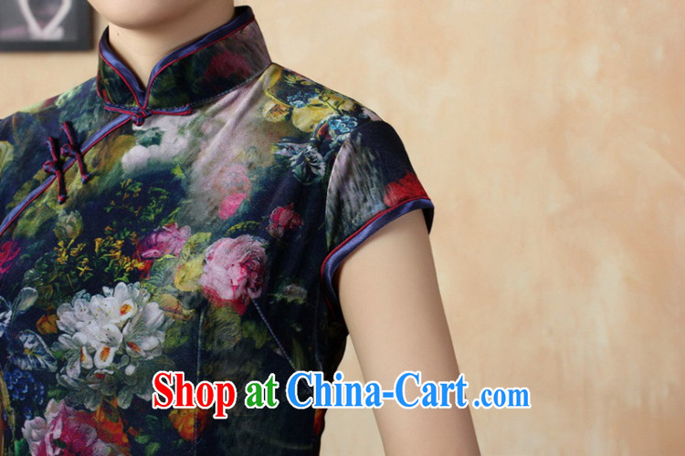 According to summer in new stylish classic stretch gold velour poster short-sleeve Chinese qipao LGD/TD 0011 #picture color 2 XL pictures, price, brand platters! Elections are good character, the national distribution, so why buy now enjoy more preferential! Health