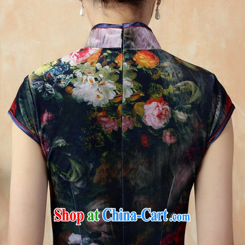 In accordance with the situation in summer new stylish classic stretch the wool poster short-sleeved Chinese qipao LGD/TD 0011 #picture color 2 XL, in accordance with the situation, and, on-line shopping