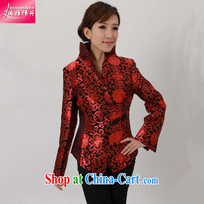 In accordance with the situation in Spring and Autumn and stylish new products a rich grain buckle Yi-waist Tang jackets LGD_J 1434 _picture color 2 XL