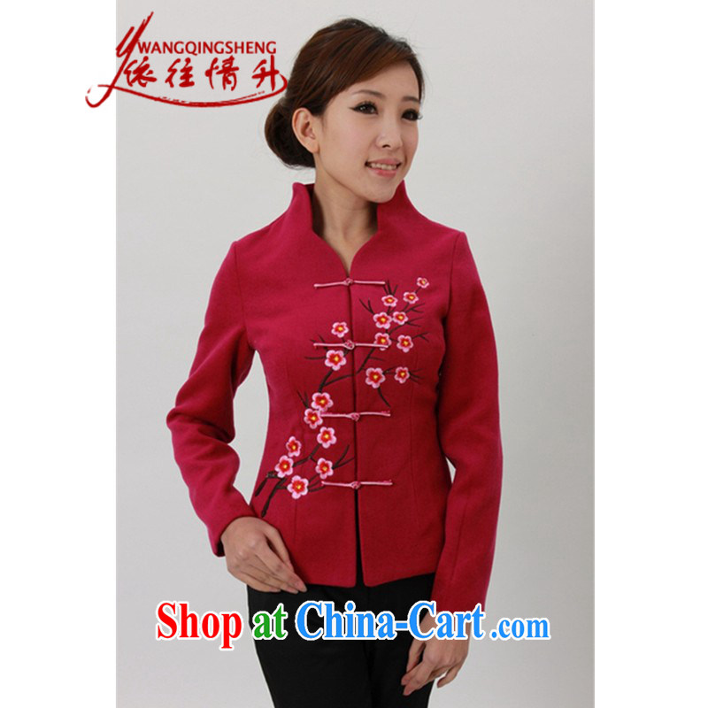 In accordance with the conditions and in Spring and Autumn and Winter Fashion new products for the embroidery is gross Sau San Tong jackets LGD_J 0055 _ of red 2 XL