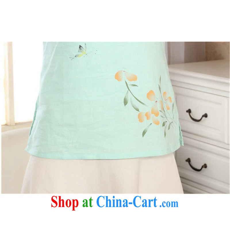 According to the conditions in summer and stylish new short-sleeved cotton the hand painted Ethnic Wind Chinese T-shirt LGD/A 0072 #pink 2 XL, in accordance with the situation, and, on-line shopping
