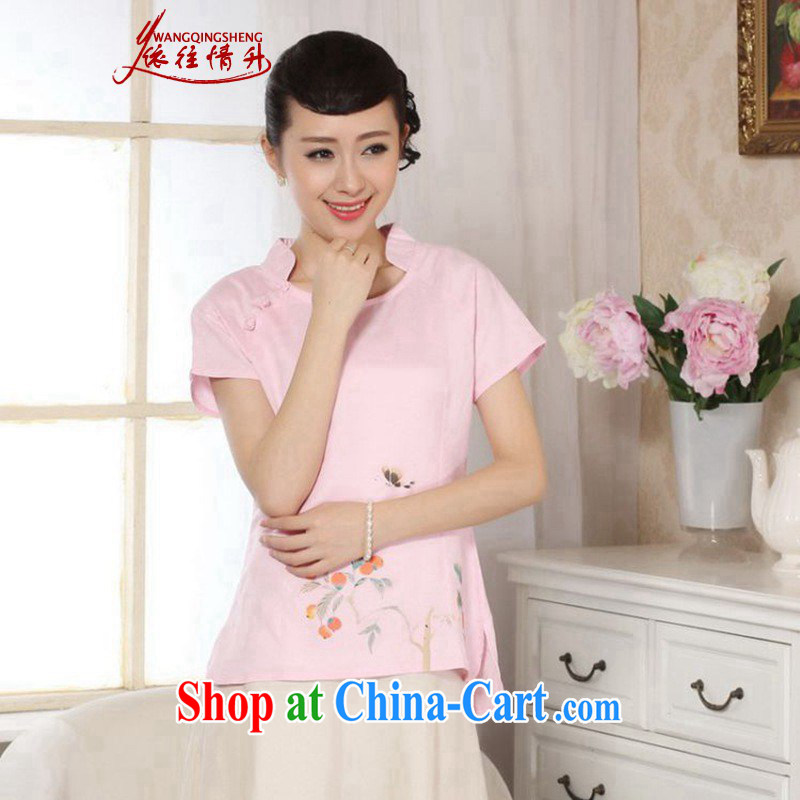 According to the conditions in summer and stylish new short-sleeved cotton Ma hand painted Ethnic Wind Chinese T-shirt LGD_A 0073 _picture color 2 XL