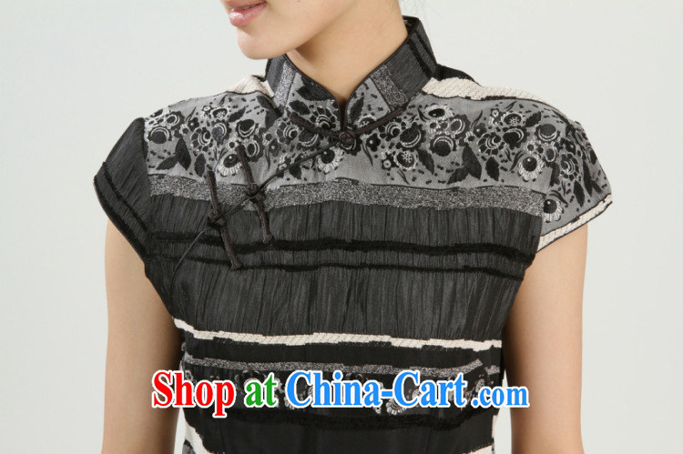 The payment takes the new girls summer manual tie dresses T-shirt dresses, Chinese Chinese qipao, T-shirt black XL pictures, price, brand platters! Elections are good character, the national distribution, so why buy now enjoy more preferential! Health