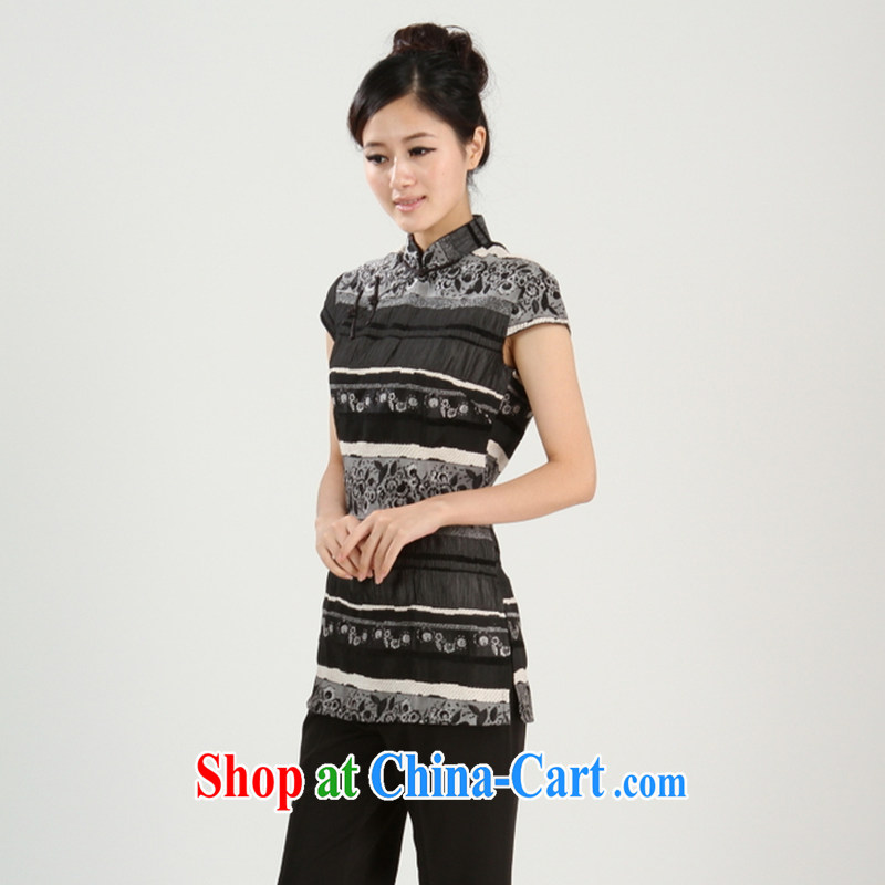 The payment takes the new girls summer manual tie dresses T-shirt dresses, Chinese Chinese qipao, T-shirt black XL, figure, and shopping on the Internet