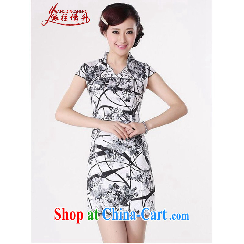 According to the situation in summer 2015 trendy new products, stamp duty for cultivating Chinese qipao LGD_D _0209 white 2XL