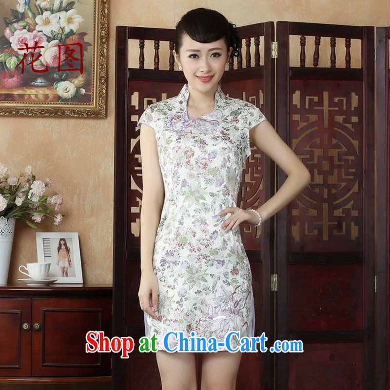 The Take the Tang Women's clothes, for a tight outfit jacquard cotton classic improved cheongsam picture color 2 XL
