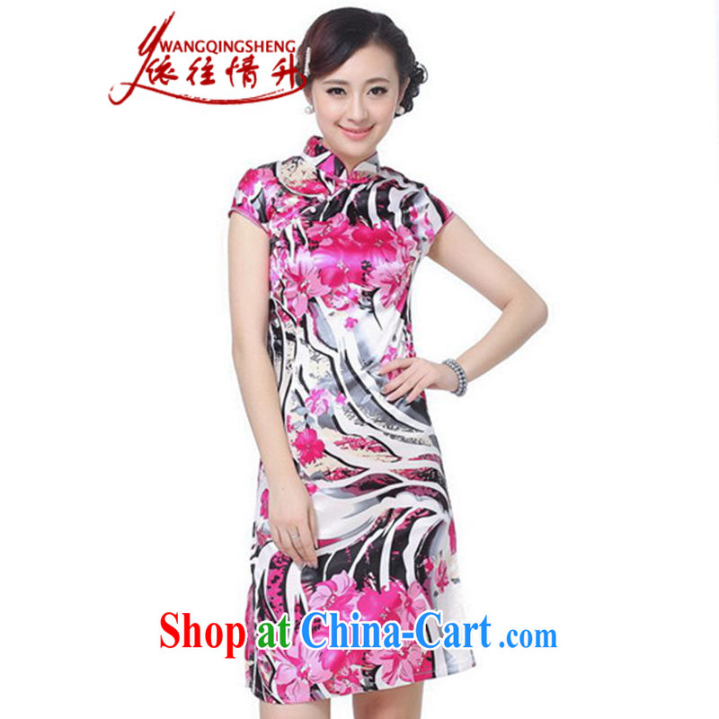 In accordance with the situation in summer 2015 Ethnic Wind up for a hard stamp beauty short Chinese qipao LGD_D 0069 _picture color 2 XL