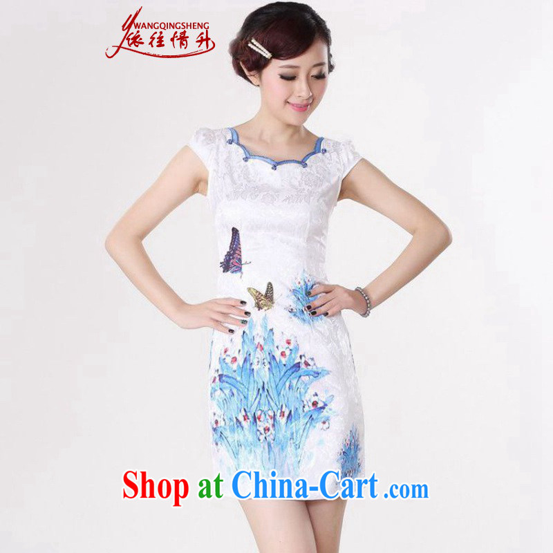 According to the situation in 2015 and stylish new beauty short-sleeved improved Chinese qipao LGD - D 0210_D 0211_D D 0212 0211 _2 XL