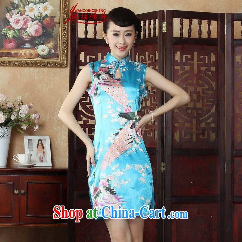 According to the conditions in summer and stylish new ladies dresses, stamp duty for cultivating cheongsam dress LGD_J 5140 _XL