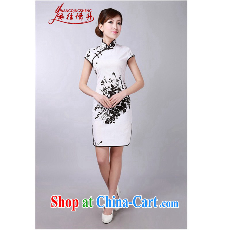 In accordance with the situation in summer 2015 trendy new products is a hard stamp duty on beauty's Chinese qipao LGD_D 0174 _black S