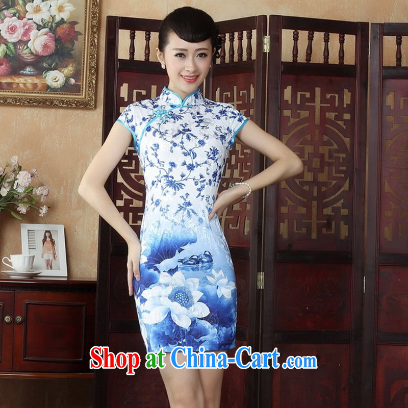 The women spend figure, for a tight hand-painted robes, Chinese Chinese cotton robes 49 XL