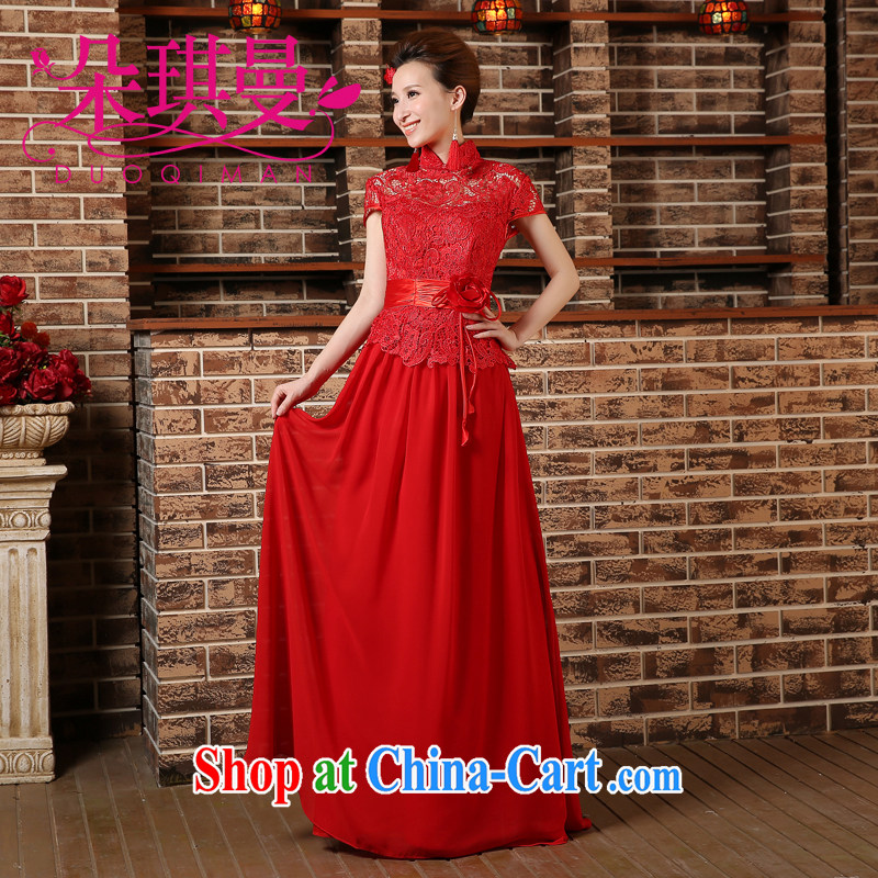 Flower Angel Cayman 2014 wedding dresses sexy dresses red lace bridal wedding dress red XXL