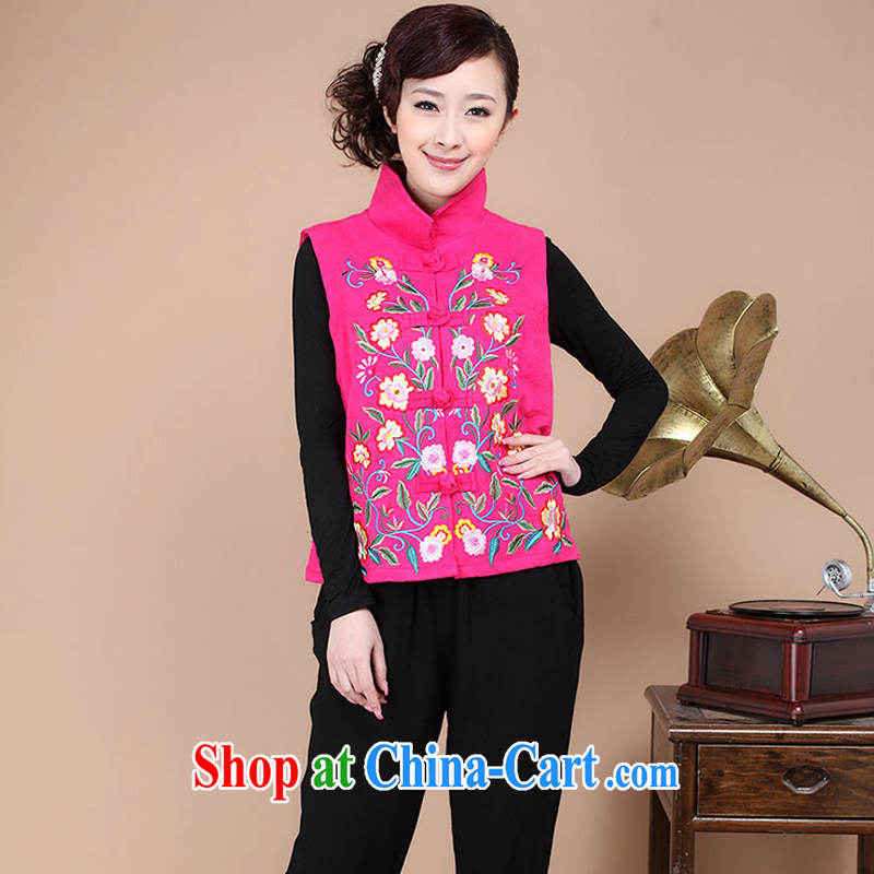 2014 autumn decoration, embroidery cotton jacquard Chinese ethnic wind Tang is a jacket female FG86 the red XXXL