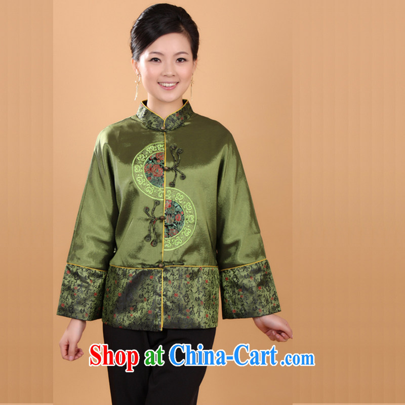 Take the new Autumn with Chinese qipao Ms. Li for damask clothing improved Chinese clothing - 1 picture color 3XL