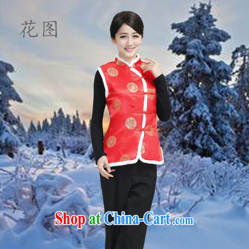 Take the new autumn and winter clothing, collar cheongsam Chinese Ma folder vest clothing Chinese clothing ethnic clothing - 2 3 XL