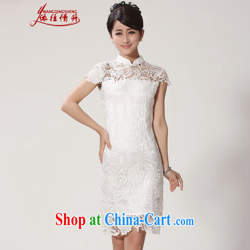 According to the conditions in summer and stylish new products, for a tight beauty lace cheongsam dress WNS_2365 _white 2XL