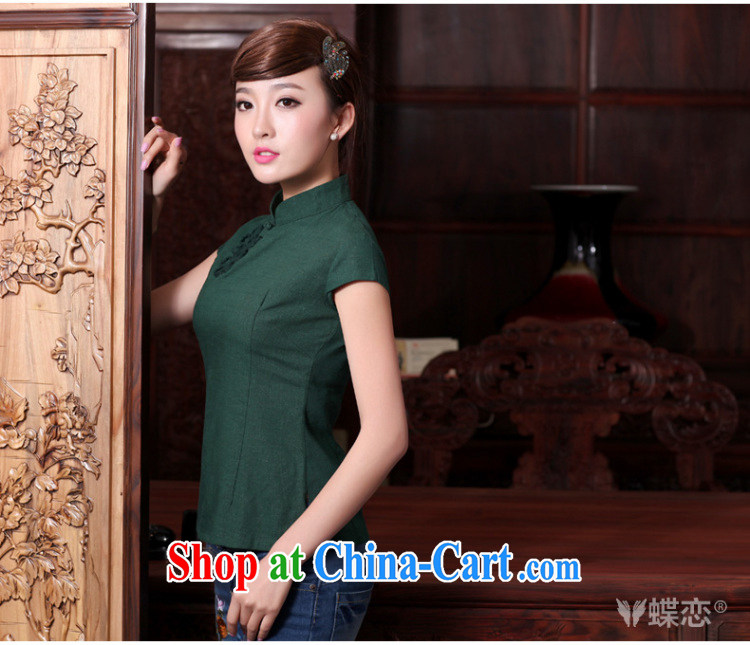 Butterfly Lovers spring 2015 the new, improved cheongsam shirt linen Tang with a short-sleeved shirt female 40,160 pink XXXL pictures, price, brand platters! Elections are good character, the national distribution, so why buy now enjoy more preferential! Health